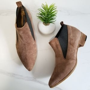 Alberto Fermani Taupe Suede Leather Chelsea Boots